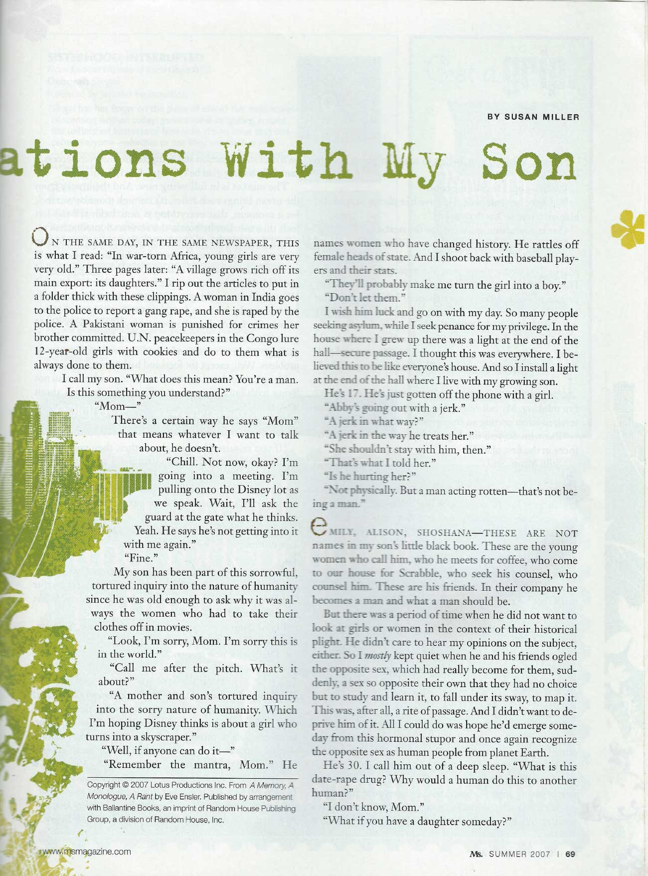 conversations with son - ms. magazine