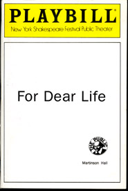 Playbill For Dear Life